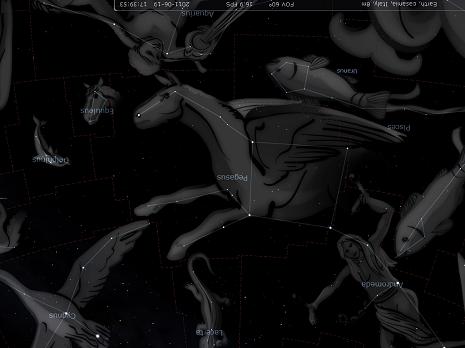 Pegaso secondo Stellarium