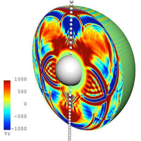 Le vibrazioni interne alla stella durante il passaggio del mini buco nero