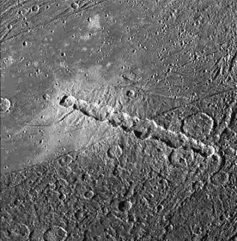 Una bellissima catena di crateri