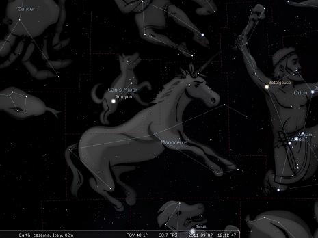 unicorno secondo stellarium