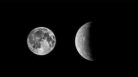 paragone luna mercurio