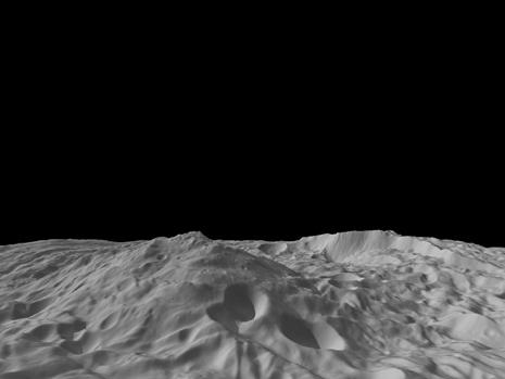 regione sud polare di Vesta