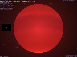 la stella 2MASS J0937-2931 dalla stessa distanza della Luna