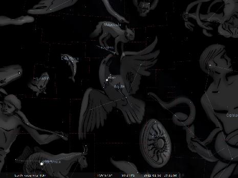 l'Aquila secondo Stellarium