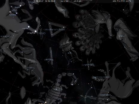 l'Altare secondo Stellarium