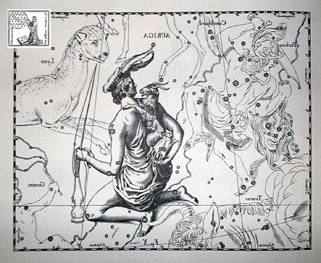l'Auriga secondo Hevelius