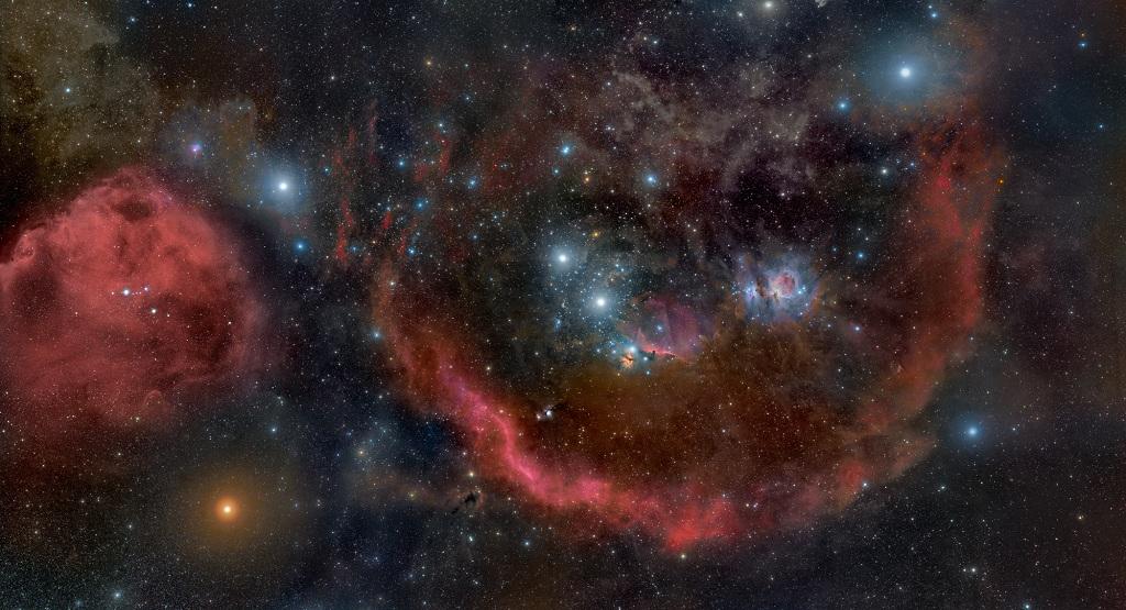 il Barnard's Ring nella costellazione di Orione