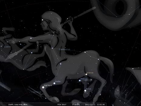 il Centauro secondo Stellarium