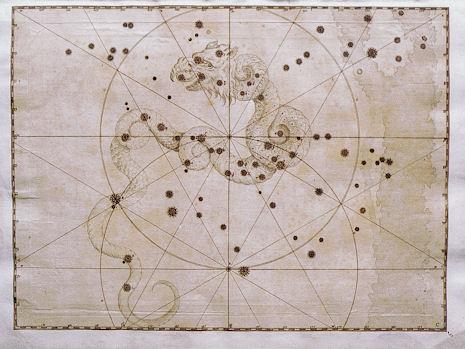 il Drago secondo l'Uranometria