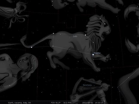 il Leone secondo Stellarium