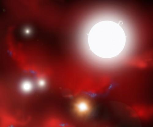 l'Universo 500 milioni di anni fa