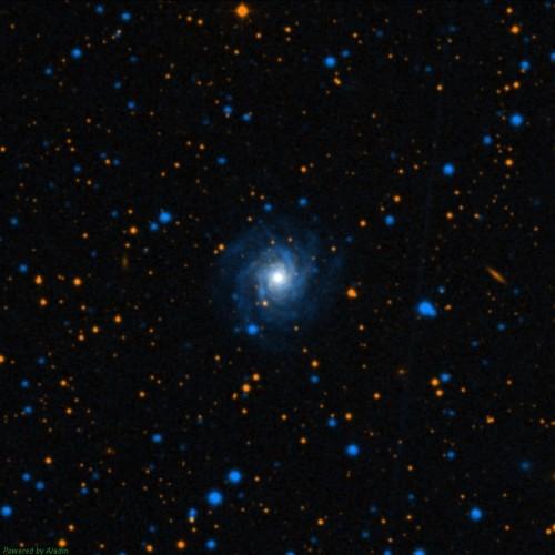 la piccola galassia NGC 7015