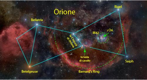 Orione ed il Barnard's Ring