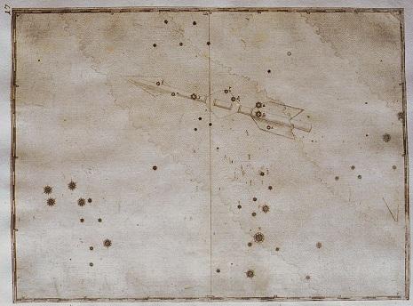 la Freccia secondo l'Uranometria