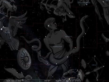il Serpente secondo Stellarium