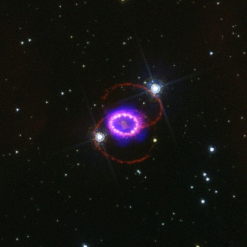 la supernova SN1987A (dal satellite a raggi X Chandra)