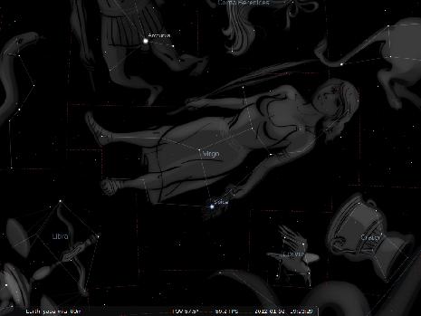 la Vergine secondo Stellarium