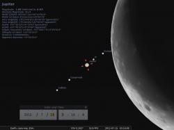 la Luna si avvicina minacciosa a Giove