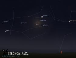 Congiunzione Luna - Venere, giorno 14 ore 4:30