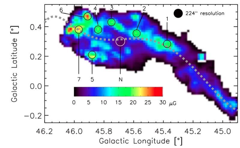 campo magnetico della nube interstellare
