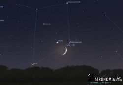 Congiunzione Luna - Marte, giorno 19 ore 20:00