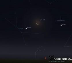 Congiunzione Luna - Venere, giorno 12 ore 4:30
