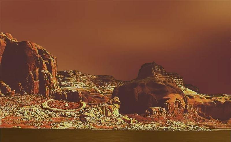 la superficie di Titano