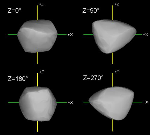 modello 3D asteroide 161 Athor