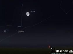 Congiunzione Luna Pleiadi, giorno 31 ore 20:00