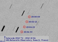 Asteroide 2012 TV (pose da 6 secondi)