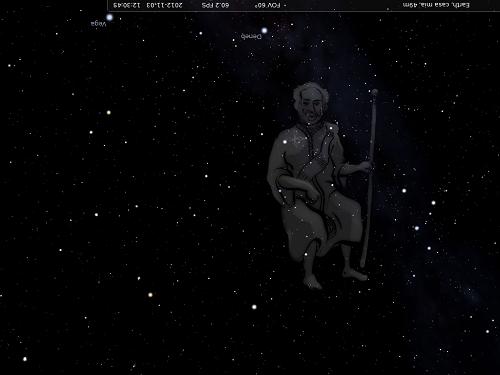 Cefeo raffigurato da Stellarium