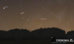 Congiunzione Luna - Marte, giorno 14 ore 17:30