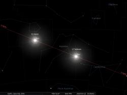 il tratto dell'eclittica che interessa la costellazione dell'Aquario
