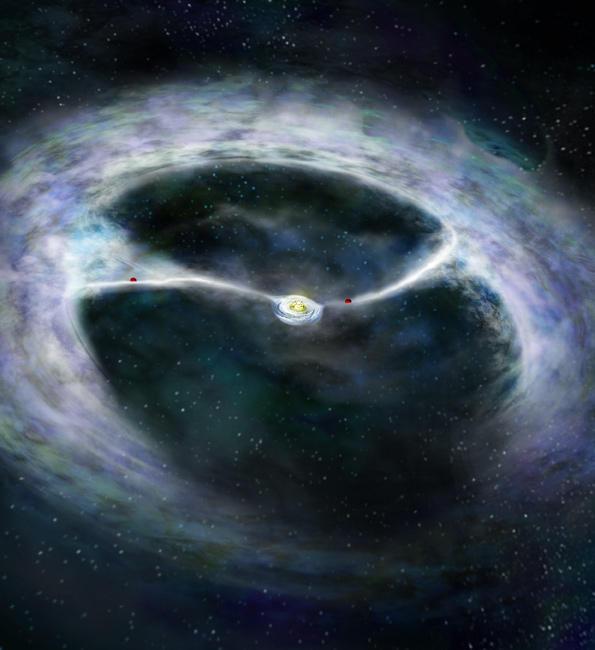 correnti di materia verso una stella