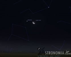 Congiunzione Luna - Saturno, giorno 3 ore 3