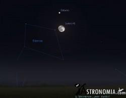 Congiunzione Luna - Saturno, giorno 29 ore 21:30