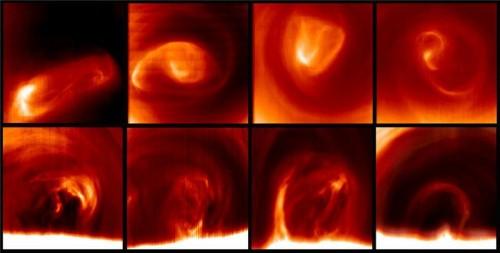 il vortice al polo sud di Venere