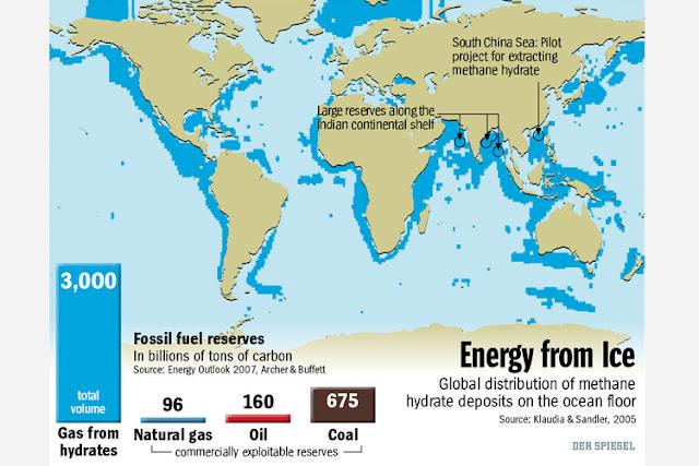 distribuzione del metano idrato