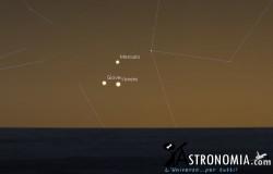 Congiunzione Mercurio, Venere , Giove - dal 25 in poi
