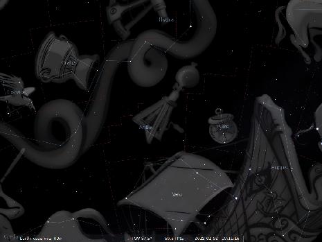 l'Antlia secondo Stellarium