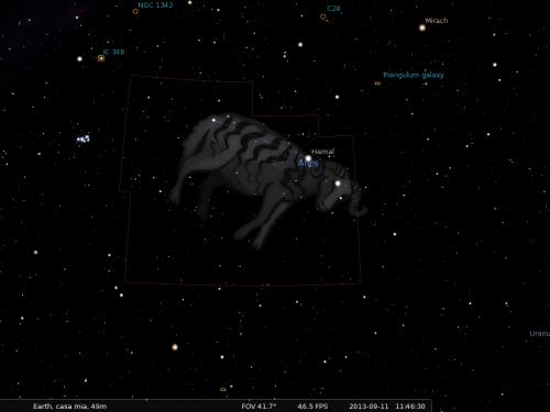 l'Ariete secondo Stellarium