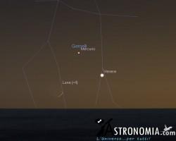 Congiunzione Luna - Venere, giorno 10 ore 21:30