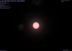 pi1 Hyi vista da 10 UA