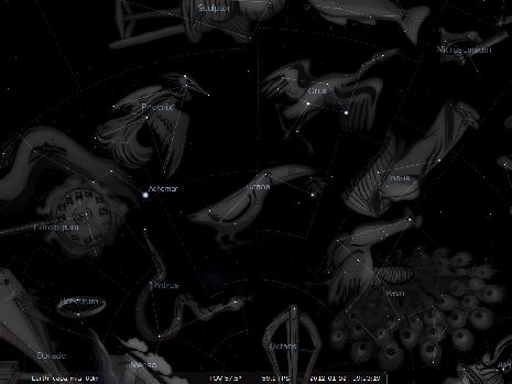 il Tucano secondo Stellarium