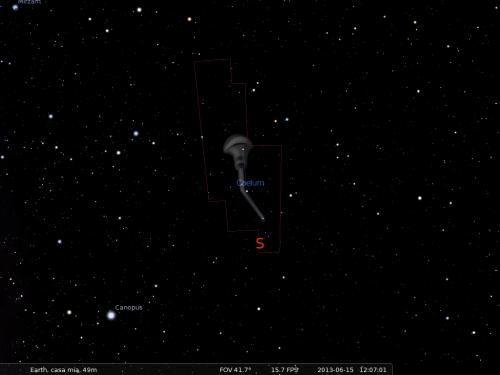 il Bulino secondo Stellarium