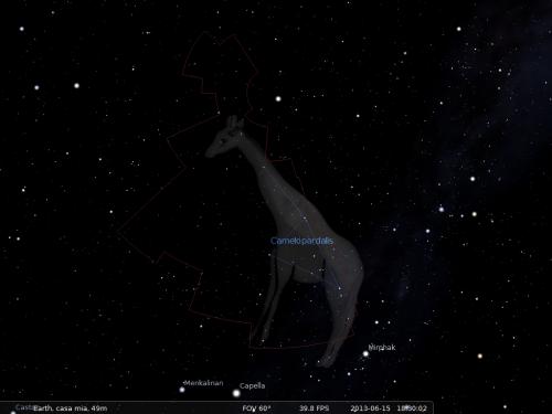 la Giraffa secondo Stellarium