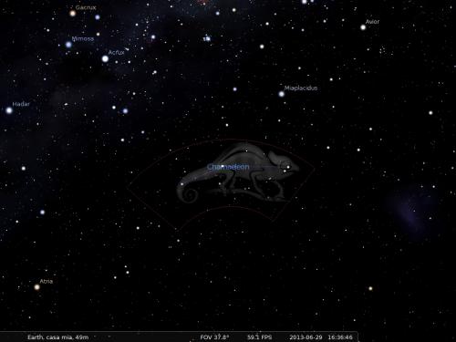il Camaleonte secondo Stellarium