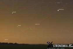 Congiunzione Luna - Marte, giorno 6 ore 05:00