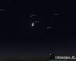 Congiunzione Luna - Staturno, giorno 16 ore 22