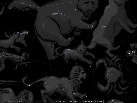 il Leone Minore secondo Stellarium